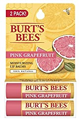 Burts Bees Balm, Lip Pink Grapefruit, 2 Count