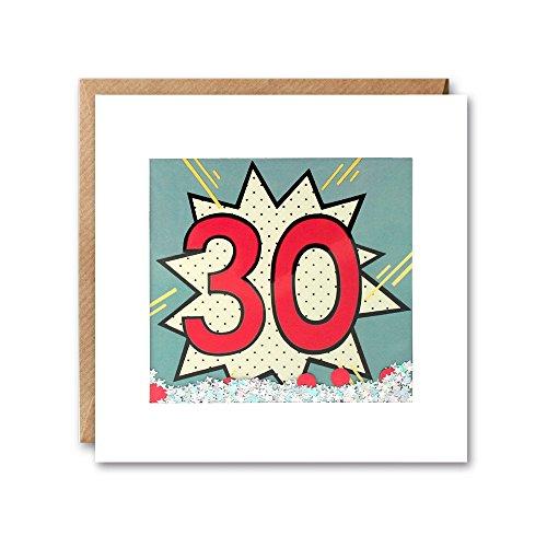 KAPOW Shakies Geburtstagskarte zum 30Geburtstag.