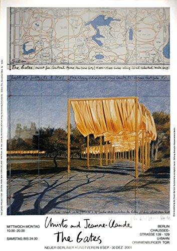 Unterzeichnet 2001Javacheff Christo The Gates Project für Central Park New York Collage versetzt Druckvorlage von (Gates Christo Javacheff)