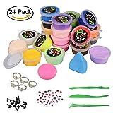 Togather DIY Slime Fluffy, 24 Couleur Fluffy Slime kit Slime soulagement du Stress Jouet pour Les Adultes et Les Enfants