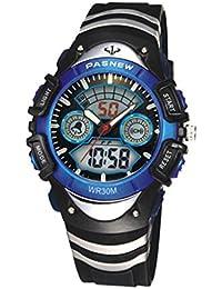 Reloj masculino / femenino / reloj de los deportes / tabla de los niños / reloj impermeable coreano / reloj electrónico , 308a deep blue