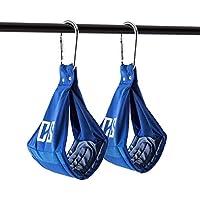 Capital Sports Armlug Eslingas para brazos Mosquetones metálicos (Gancho para abdominales colgadas, material resistente acolchado, colgador para entrenamiento, máx. 120kg Azul)