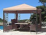 Quick-Star 2 Seitenteile mit PVC Fenster für Blätter Pavillon 3x3m Seitenwand Sand