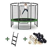 Ampel 24 Deluxe Outdoor Trampolin 305 cm mit Netz, Leiter & Windsicherung | Gartentrampolin mit dem Maximum an Sicherheit | Belastbarkeit 150 kg