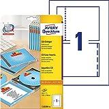 Avery Zweckform, C32250-25, 25 Blatt, CD-Einleger spezialbeschichtet,...