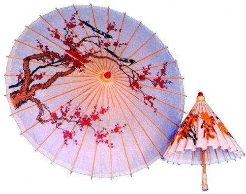 P'tit Clown62440–Paraguas chino pintado a mano,talla única, color aleatorio