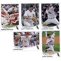 2013 Topps Chicago White Sox Team Set (Series 1 - 9 cards) - Kevin Youkilis, Paul L=Konerko, A.J. Pierzynski, Alex Rios, John Danks, Chris Sale, Gordon Beckham, Addison Reed, and Matt Thornton