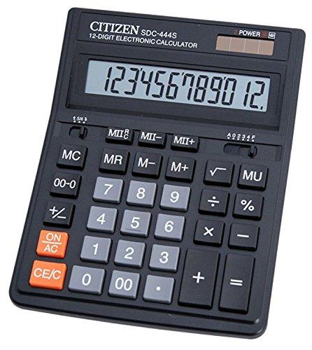 Citizen SDC-444S Calcolatrice da Tavolo, Nero