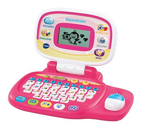 VTech Ordenador educativo Bambi, color rosa, versión española (3480-155457)