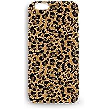 Funda carcasa Leopardo piel animales para Iphone 4 4S 5 5S SE 6 6S 6plus 7 7plus plástico rígido