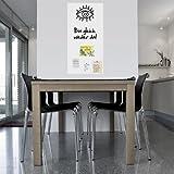 selbstklebende Whiteboard-Folie magnetisch l Whiteboard Whiteboardfolie l weiß l 100x50cm inkl. Stift