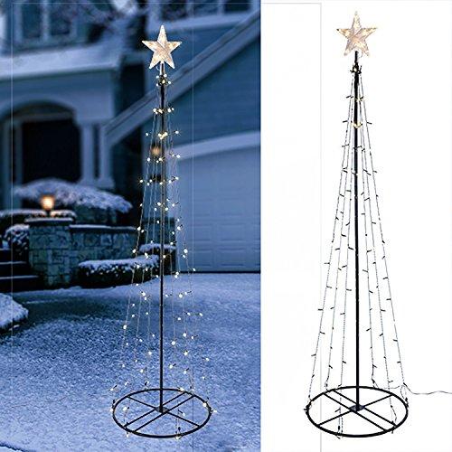 Multistore 2002 LED Weihnachtsbaum,180cm, 106 LEDs, stabile Metallkonstruktion inkl. 2 Bodenanker für Innen & Außen