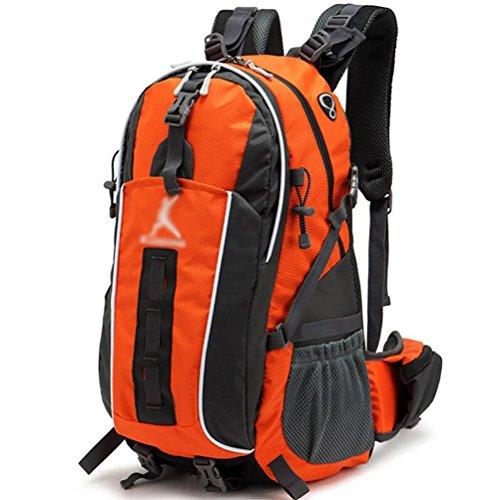 HWLXBB Outdoor Bergsteigen Tasche Männlich und weiblich 45L Wasserdichte Mehrzweck-Bergsteigen Tasche Wandern Camping Bergsteigen Rucksack 4*