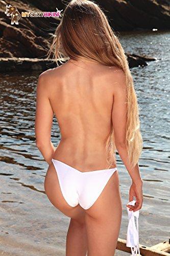 my sexy bikini -  Coordinato  - Donna blanc 3 pièces string + tanga + sg
