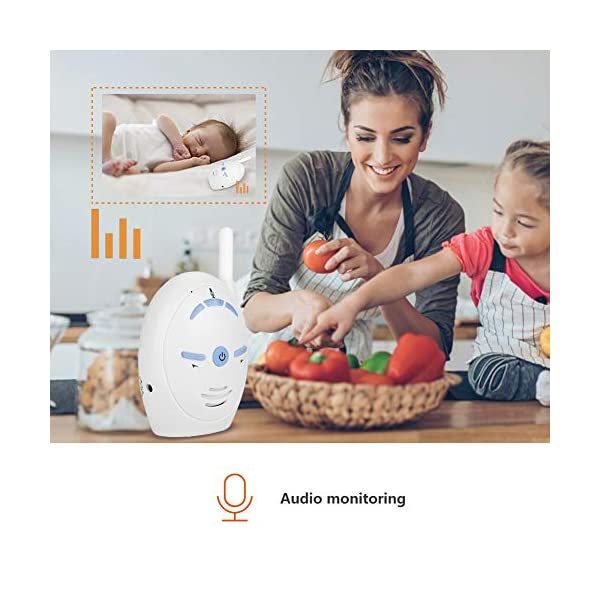 Digital Audio Baby Monitor - Wireless Digital Audio Baby Monitor Nanny Intercom Electronic Alarm Two-Way and Talk Back Intercom(UK)  ✿✿Built-in microphone for two-way conversation and audio monitoring. Whenever you use this baby monitor, you can talk to your baby anytime, anywhere. ✿✿Made of high-quality materials, it is corrosion-resistant, wear-resistant, durable and can be used for a long time. Easy to match, plug and play. ✿✿Sensitive, you can easily hear the baby crying and inform your parents. When you are not around your child, our baby monitor is your best helper! 7