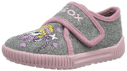 Geox J Home A, Pantofole Bambina, Grau (Grey/PINKC0502), 29 EU