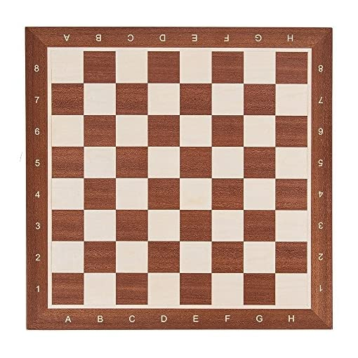 Square-Pro-Schach-Set-Nr-5-Mahagoni-LUX-Schachbrett-Schachfiguren-Staunton-5-Kasten-Schachspiel-aus-Holz