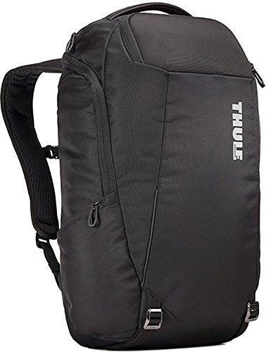 Thule Unisex/Erwachsene TACBP216 Accent Backpack 28L (Großes Laptop/Tablet, SafeZone-Fach, Mesh-Rückenteil) Schwarz, Black