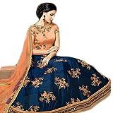 #9: Zalak Enterprise Women's Blue Silk Lehengas cholis (HR999_Blue_Free Size)