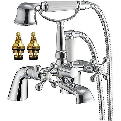 Grand Taps - Miscelatore per vasca da bagno e doccia stile vittoriano tradizionale Viscount 4
