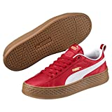 Puma Smash Platform Varsity Damen Sneaker Ribbon Red White 3
