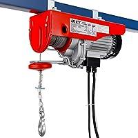 COSTWAY Cabestrante Eléctrico IP54 Polipasto de Cable con Motor Acero Cuerda 18M (Modelo 2)