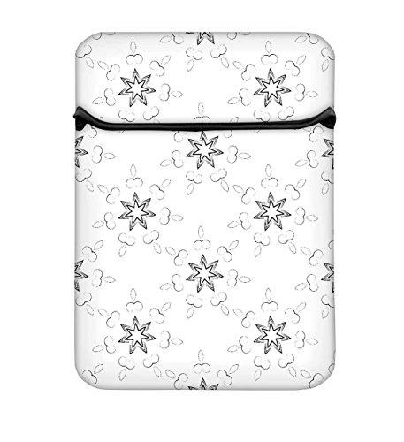 Snoogg Sterne GLOWING 25,4cm einfachen Zugang Gepolstertes Laptop Schutzhülle Flip Sleeve Tasche