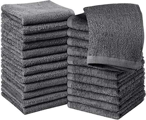 Utopia Towels - 24er Set Seiftücher, 30x30 cm, Washclappen aus 100{ac0bc241f0a734a7e9782f62c4fefa52ecdeb3cecab03180e6f8a9351f1c815a} Baumwolle, 600g/qm, grau