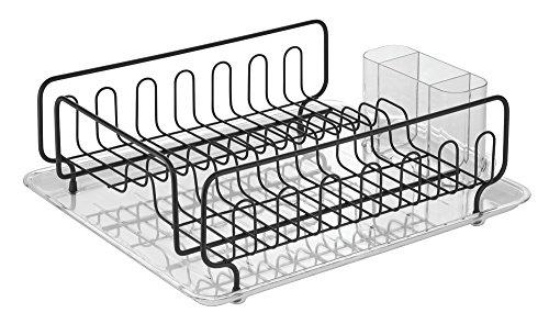 InterDesign Forma Lupe Abtropfgestell, Durchsichtig/Mattschwarz