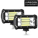 AMBOTHER LED Arbeitsscheinwerfer 5 Inch Zusatzscheinwerfer IP67 Wasserdicht Scheinwerfer Arbeitslicht 27W (2 Stücke)