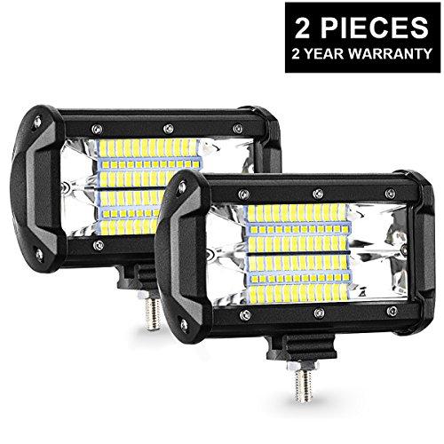 AMBOTHER LED Arbeitsscheinwerfer Zusatzscheinwerfer IP67 wasserdicht 27W (2 Stück) (Wasserdichte Led-scheinwerfer)