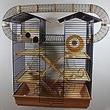Hamsterburg Hamsterkäfig Mäusekäfig CH2 Beige mit Röhrensystem