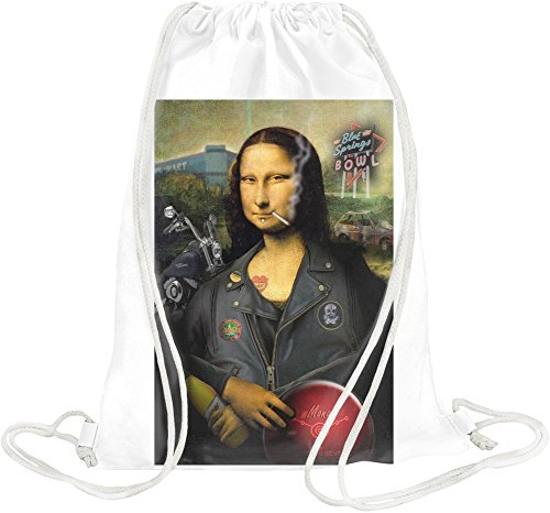 Mona Lisa Biker Drawstring bag