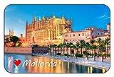 Cadora Magnetschild Kühlschrankmagnet I love Mallorca