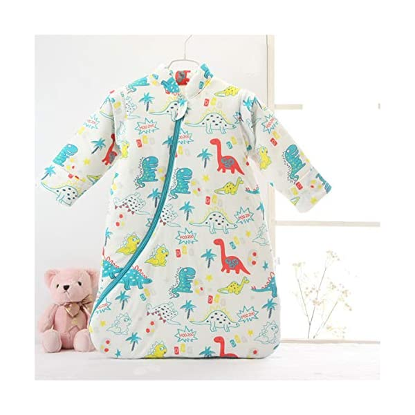 Saco de dormir para bebé de invierno, saco de dormir para niños, 3,5 tog, saco de dormir de algodón bio, diferentes tamaños desde el nacimiento hasta los 4 años azul Blauer_elefant Talla:S/3-6Monate