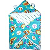 Baby Station New Born Baby All Season Use 3 In 1 Baby Wrapper Or Blanket Cum Sleeping Bag Cum Beeding(0-6Months) (Blue)