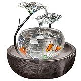 JIANGU Aquarium Wohnzimmer Wasser Zimmerbrunnen TV Schrank Kleinen Verzierungen Keramik Büro Desktop Creative Fisch Tank
