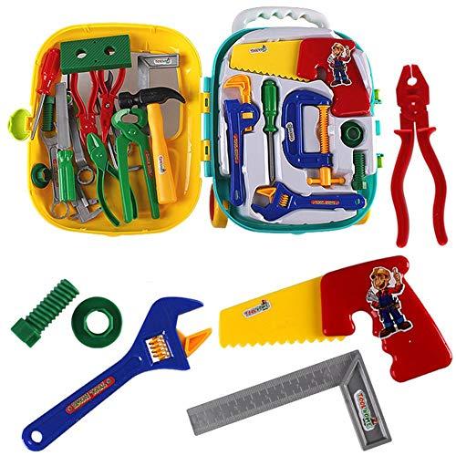 Kinder Werkzeugkoffer,Take Apart Tool Kit,Lernspiel Set mit Spanner Hammer sah, für Kinder Toolbox Spielzeug Set