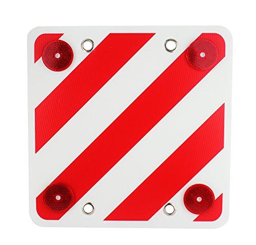 Panel reflector trasero para señalización de cargas, señal v-20, 40x40cm, cuadrada, placa, tablero, carga posterior, señal, seguridad vial, carretera, cargas, sobresalientes, distintivo camiones, visibilidad noche (40x40)