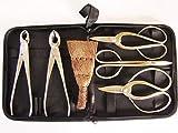 Genki-Bonsai Bonsaiwerkzeugset II | platinierte Werkzeuge | 7 teiliges Set | inkl. Werkzeugtasche
