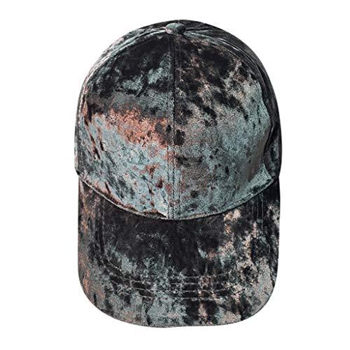 Yvelands Männer Frauen Baseballmütze Cap Unisex Volltonfarbe Baseballmütze Unisex Snapback Hip Hop Flacher Hut