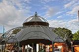 Wetterfester Sonnenschutz fuer Gartenpavillon Metall Romantik 290cm