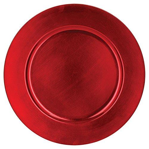 Atmosphera Assiette de présentation Ronde - Rouge