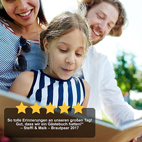 Gästebuch mit Fragen | grau, roségold - 8