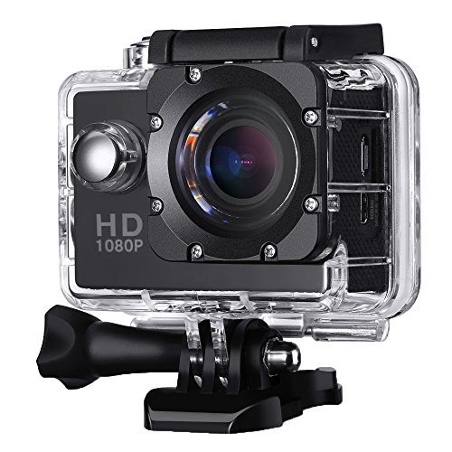 2,0 Zoll Action Kamera, VicTsing Sports Action Camera 12MP Full HD 1080p Action Cam Wasserdichte Action Kamera Helmkamera mit Zubehör Kits
