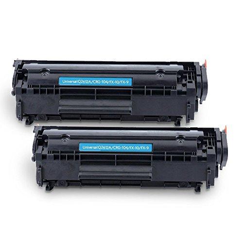 smartoe cartucho de tóner compatible de repuesto para HP 12un Q2612A para uso con HP LaserJet 1018, 1015, 1010, 1020, 1025NW, 1025, 1022, 1022N, 3015,3015dn, 3050, 3055, 3015, 3020, 3030, M1005, m3052, M1319MFP–(negro, 2Pack, 2.000páginas)