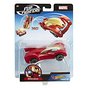 Mattel Hot Wheels flm73 Hot Wheels Marvel Flip Fighters Car Surtido