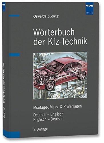 Wörterbuch der Kfz-Technik: Montage-, Mess- & Prüfanlagen