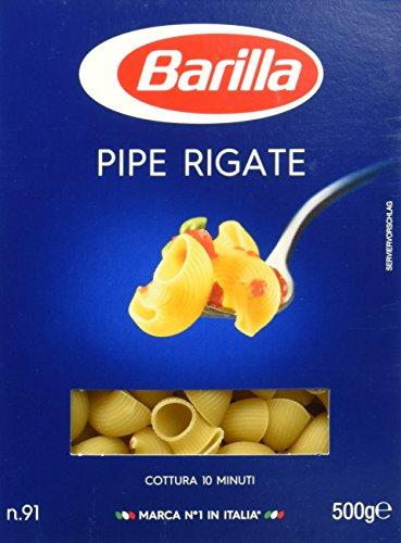 Barilla Hartweizen Pasta Pipe Rigate n. 91 - 12er Pack (12x500g) -