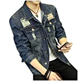 Best Jeans For Petites - Vinyst Men Vintage Wash Turn-Down Collar Button Down Review